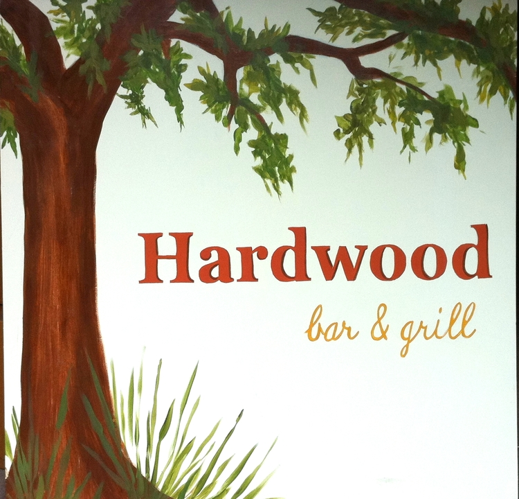 Commissioned Restaurant Sign-5ft. X 5ft. Acrylic on Metal