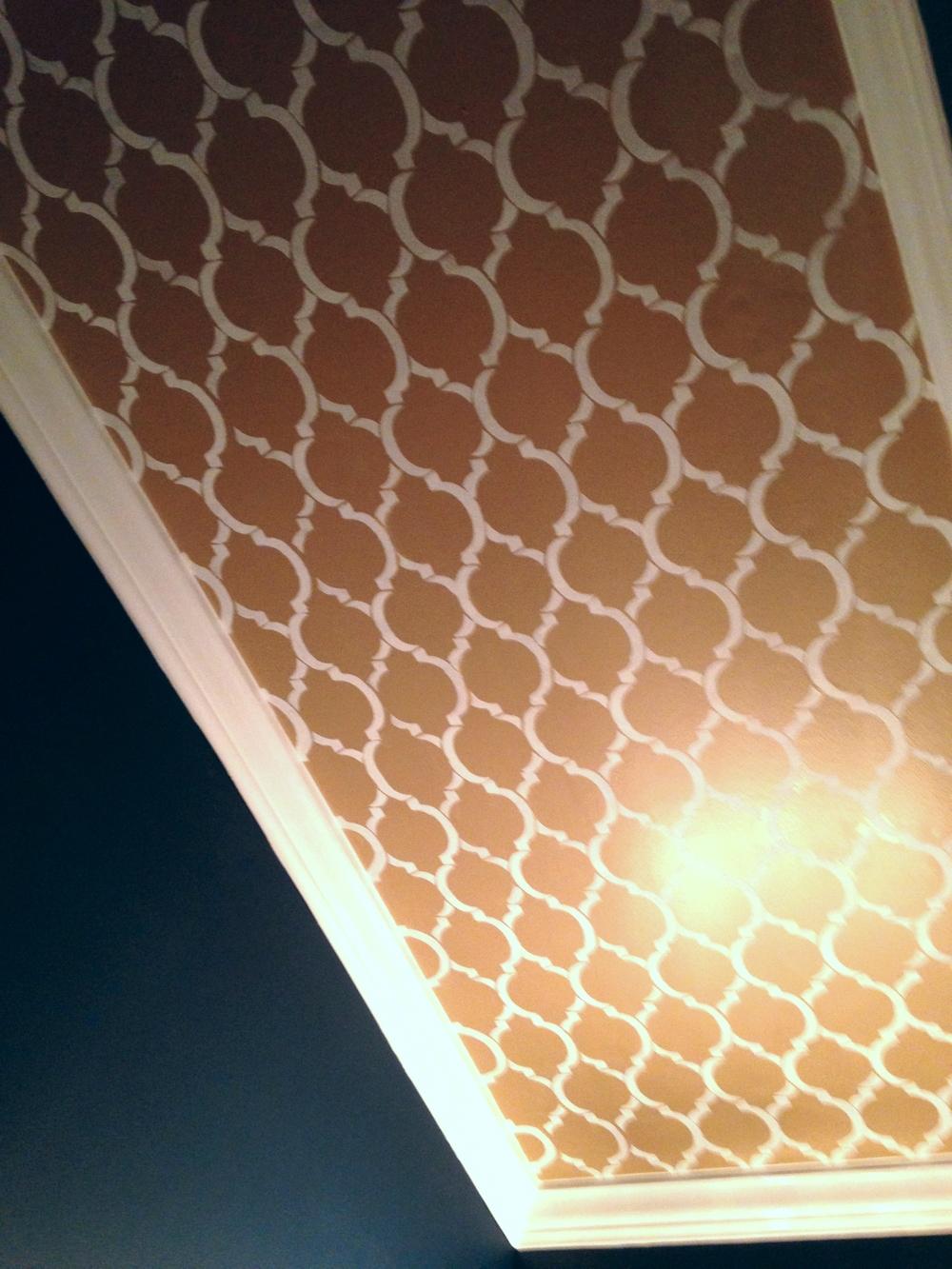 Morrocan Ceiling Stencil