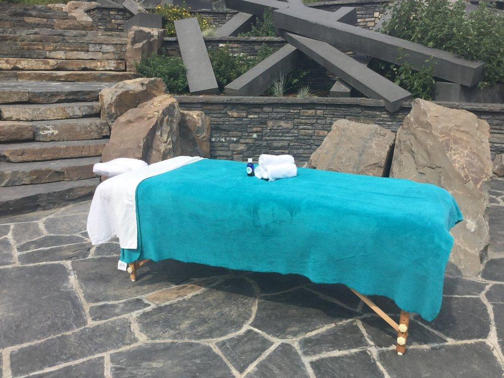 massage table - towels -park - fall 2017.jpg