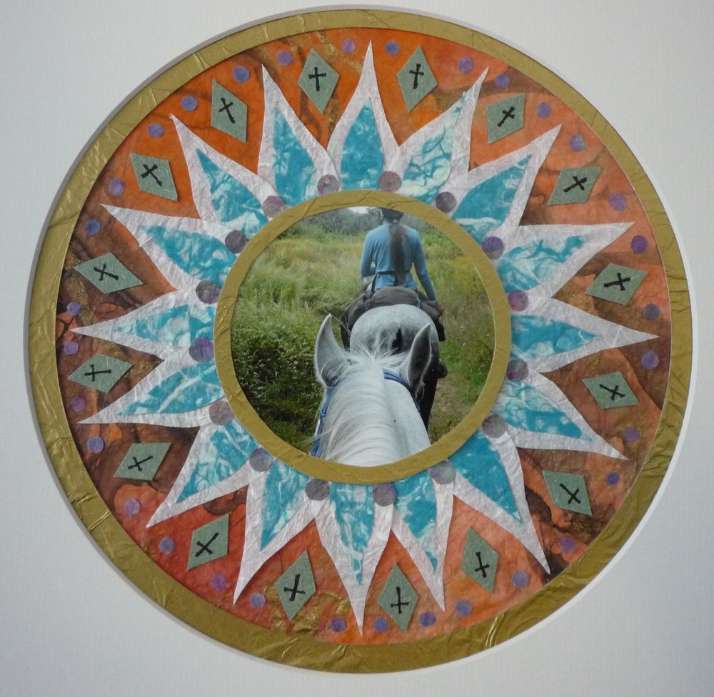 Grace's mandala of her epic trail ride, pattern is faith blossoming