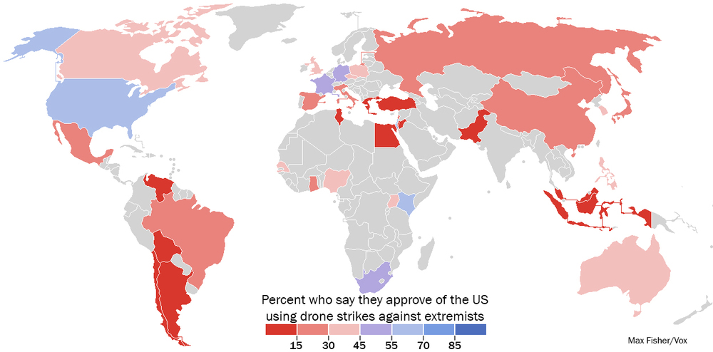 World opinion regarding drone use (Pew Research Center)