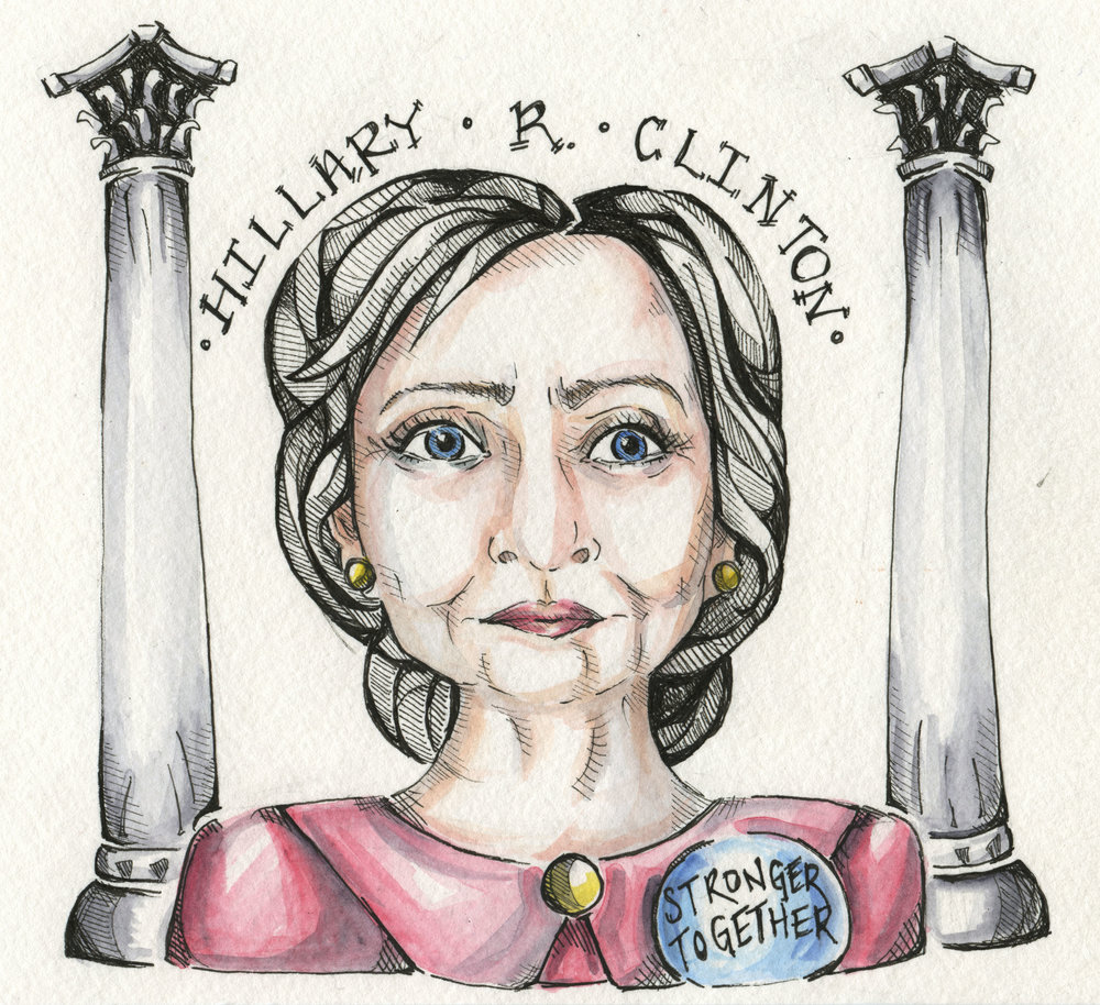 Hillary Clinton, by illustrator and Short Version contributor Luna Adler.