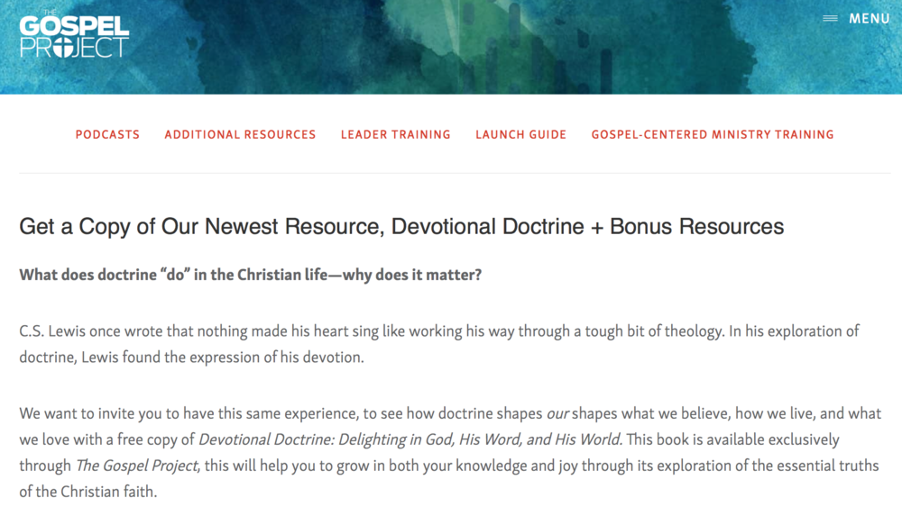 Get Devotional Doctrine by clicking the image above or  this link .