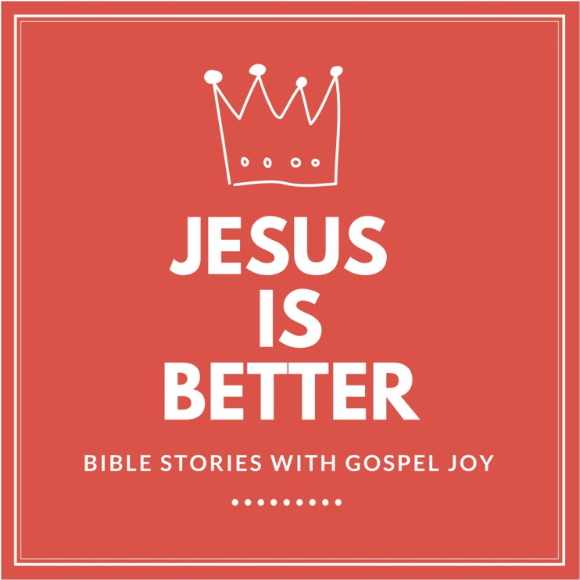 Here's one you can listen to with your kids. Alicia Yoder presents Bible stories through the lens of the Gospel.