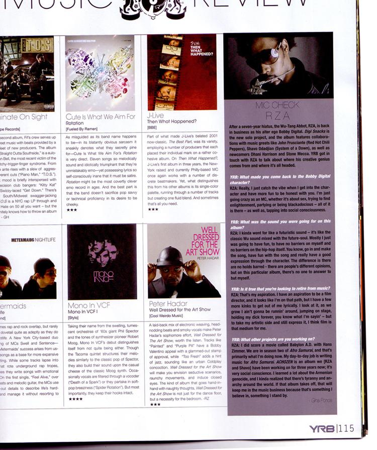 """Mono In VCF - Mono In VCF """"****""""  YRB Magazine  2008"""