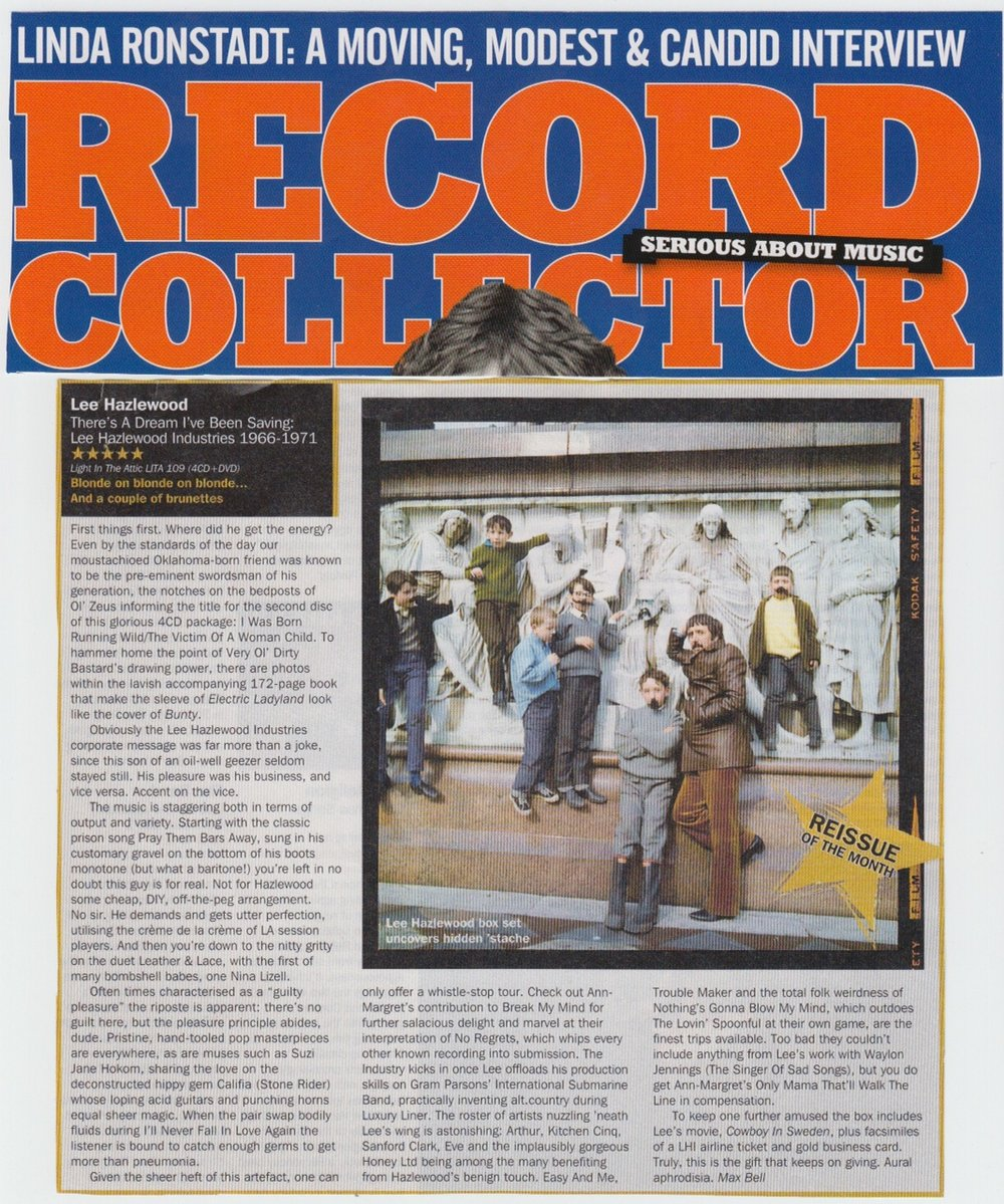 Lee Hazlewood There's A Dream I've Been Saving: Lee Hazlewood Industries in  Record Collector  Dec. 2013