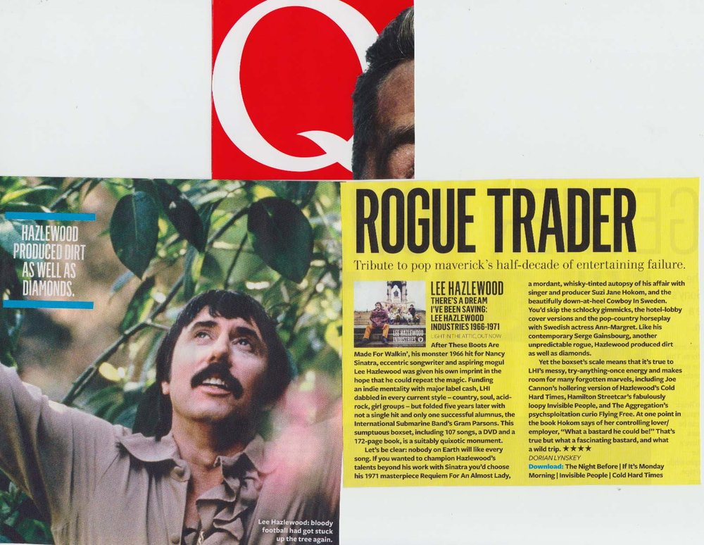 Lee Hazlewood There's A Dream I've Been Saving: Lee Hazlewood Industries  Q Magazine  Dec. 2013