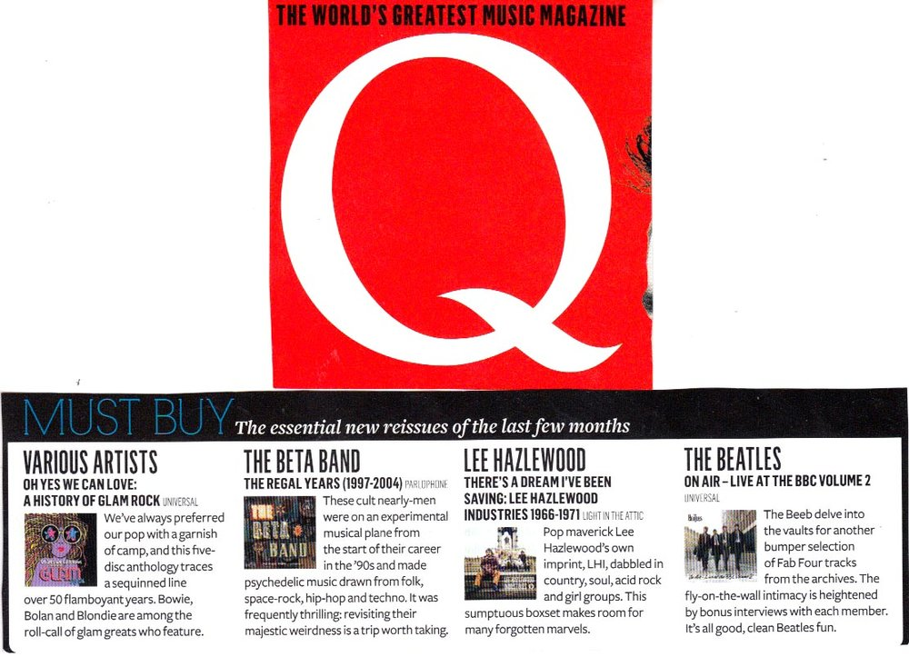 Lee Hazlewood There's A Dream I've Been Saving: Lee Hazlewood Industries,  Q Magazine,  Apr. 2014