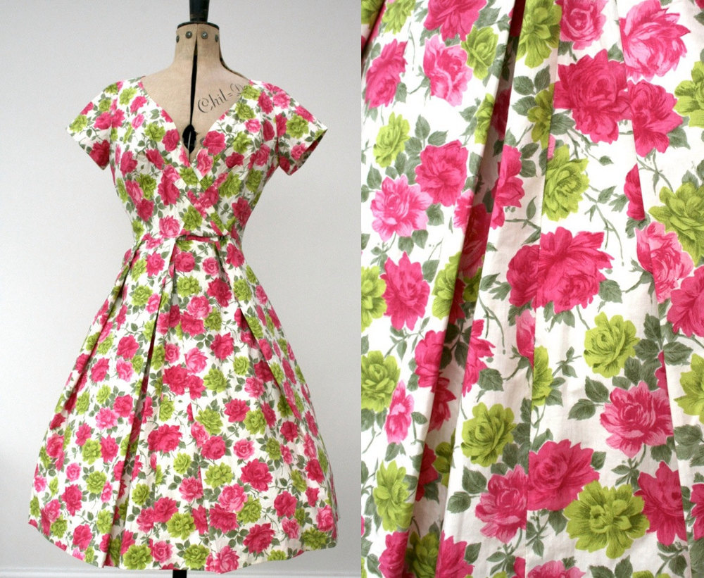 A vintage Horrockses dress currently for sale on Etsy