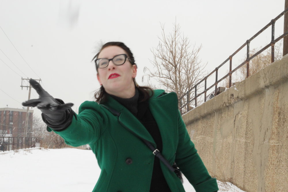 Trying to liven up a slightly dull outfit shoot by getting a good shot of me throwing snow in the air. Uh... better luck next year?