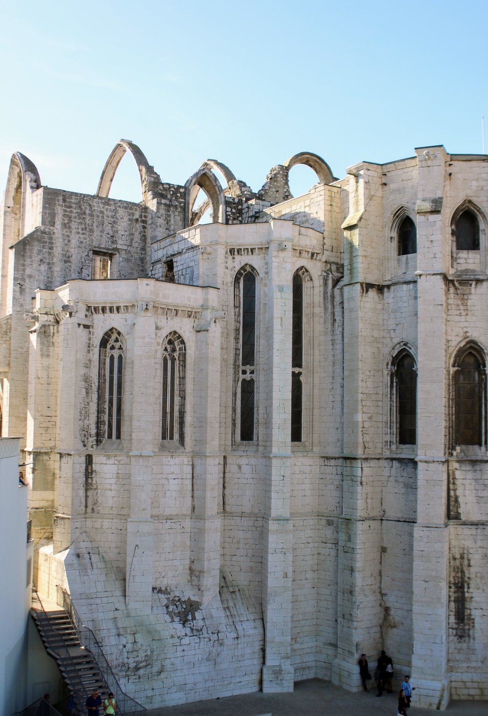 Carmo Convent, which was partially destroyed during an 18th century earthquake that nearly leveled Lisbon.