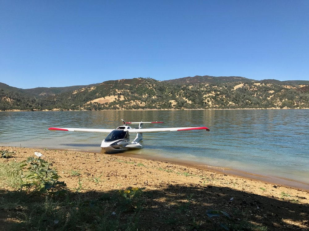 Over the summer, I worked as a Quality Intern at Icon Aircraft, and had the opportunity to take the product over to Lake Berryessa to get my sport seaplane endorsement.