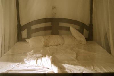 Hotel Bed in Morning Light