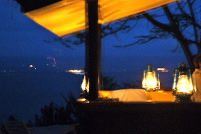 Patio Overlooking Lake Naivasha, Night