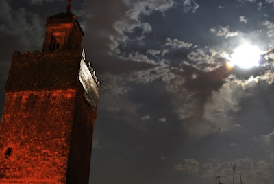 Minaret in Moonlight, Fez