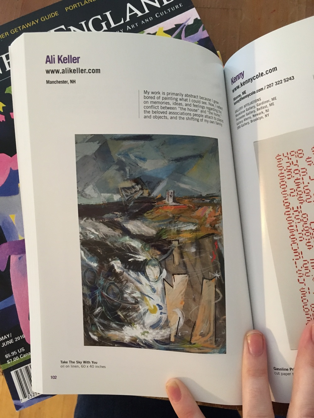 My 2016 piece, Take The Sky With You, featured on page 102 of the newest Studio Visit.