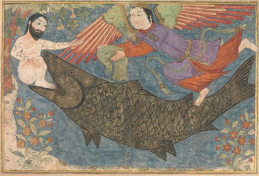 """Hand me a towel...?"" (Folio from the  Jami al-Tavarikh , c. 1305-06.)"