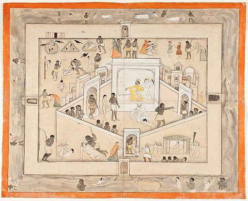 Gursahai,   The Court of Yama, God of Death   (c. 1800).