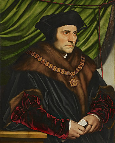 Hans Holbein the Younger's portait of Sir Thomas More, who stuck by his belief in right and wrong and was executed for questioning Henry the VIII's choices. Sound familiar, fans of the Starks? Portrait at the Frick Collection in New York.