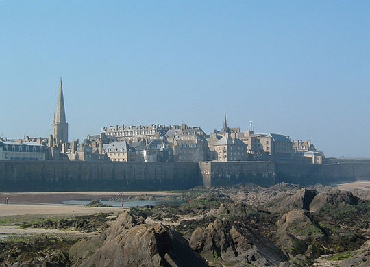 Saint Malo, France.  Photo : Antoine DECLERCK. CC BY SA 3.0