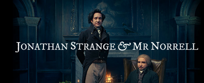 From the BBC's publicity pages: Carvel as Jonathan the young upstart, and Marsan as Mr. Norrell.