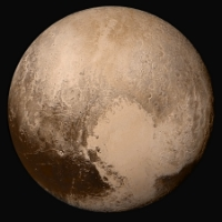 Nh-pluto-in-true-color 2x JPEG.jpg,   by WolfmanSF , 14 July 2015; released 25 July 2015,  Public Domain