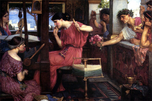 Penelope and the Suitors, painting by John William Waterhouse.