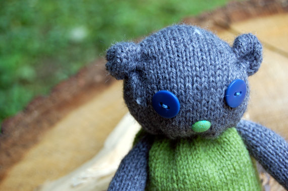 Isn't it just the cutest thing? Etsy blue bear