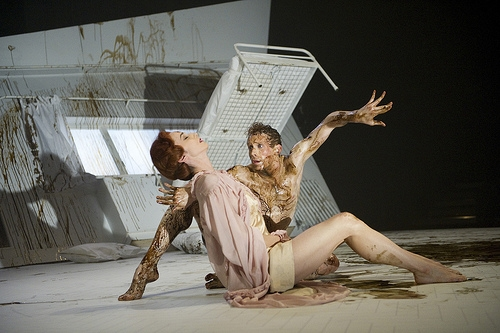 "Royal Ballet principal Edward Watson as Gregor in Pita's ""Metamorphosis."" (Photo via Royal Opera House, (c) ROH 2011.)"