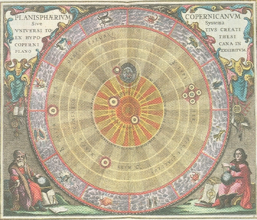 The solar system has had a lot of alternative realities over the ages, when you think about it. The Copernican model, from   Harmonia Macrocosmica   by Andreas Cellarius (1660).