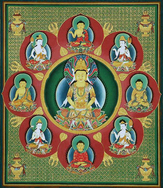 Buddha Vairochana, Mandala (Japan) Public domain.