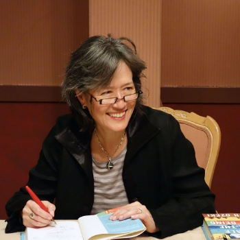 Ruth Ozeki, 2013. (Photo by  Latrippi .)
