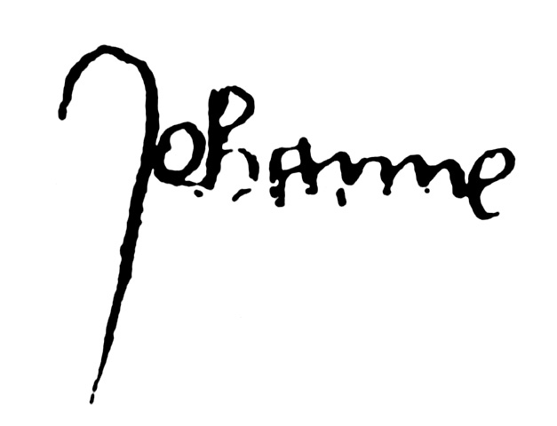 "Joan of Arc's  signature , ""Jehanne."""