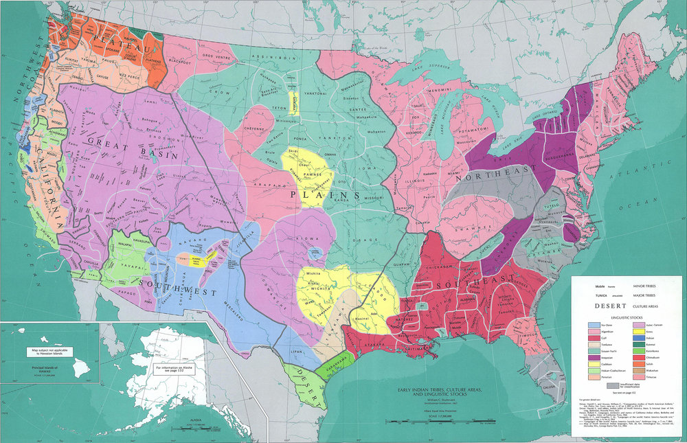 The land that would become the United States of America, before it was conquered and mapped by Europeans.