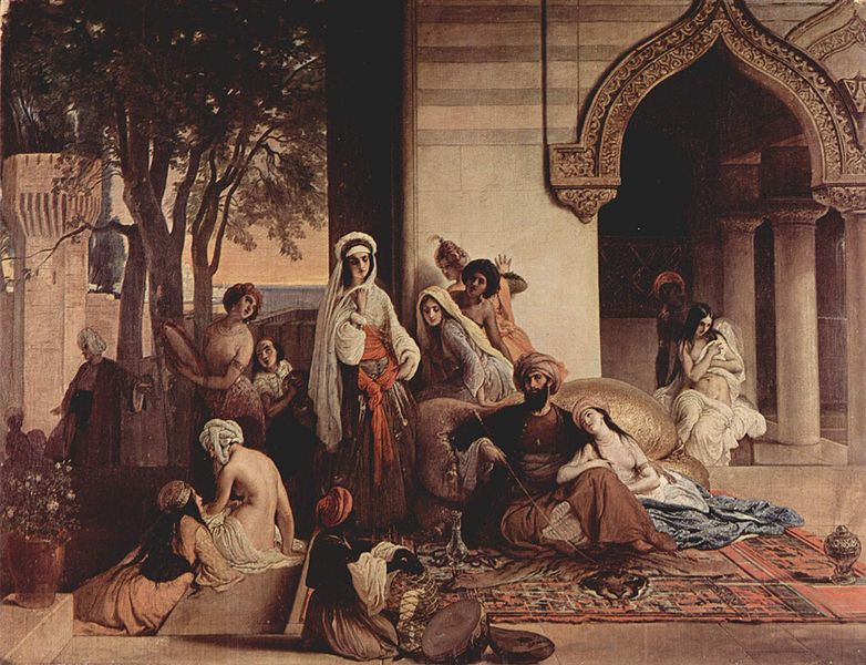 """The New Favorite"" by Francesco Hayez, an Italian interpretation of Ottoman court life."