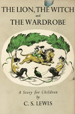 A first edition cover of  The Lion, The Witch and the Wardrobe , now available as a reprint from Harper