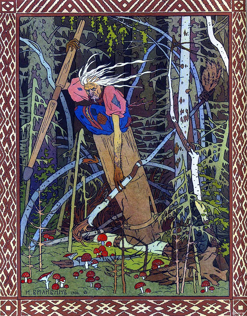Ivan Bilibin's classic depiction of Baba Yaga from 1902 .