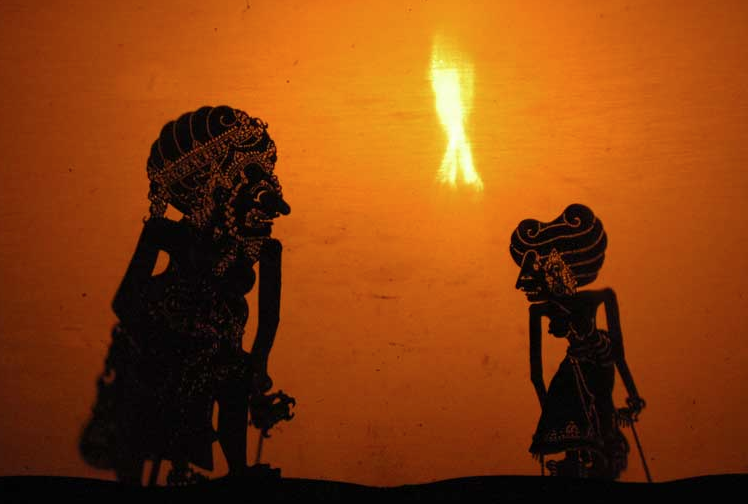 Scene from the  Ramayana , during an all-night Indonesian wayang kulit shadow puppet performance.