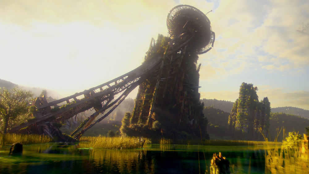 The Space Needle has fallen in this landscape still from MTV's adaption of Terry Brooks's The Shannara Chronicles