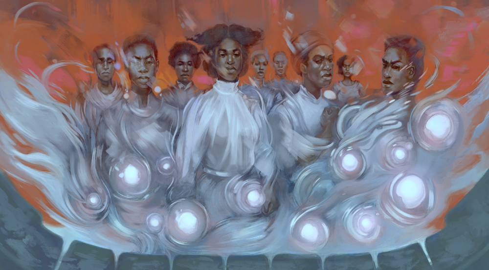 """The Secret Lives of the Nine Negro Teeth of George Washington."" Illustration by Odera Igbokwe from  Fireside Magazine ."