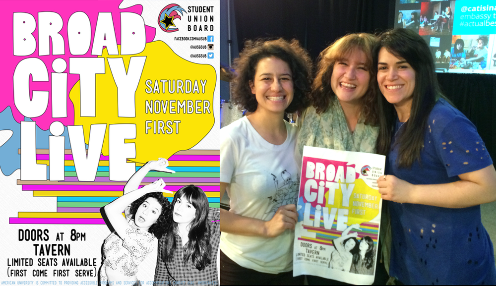 with the gals of Broad City featuring poster design
