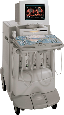 The Acuson Sequoia 512 Ultrasound system is an ultra-premium performance machine that utilizes revolutionary technology