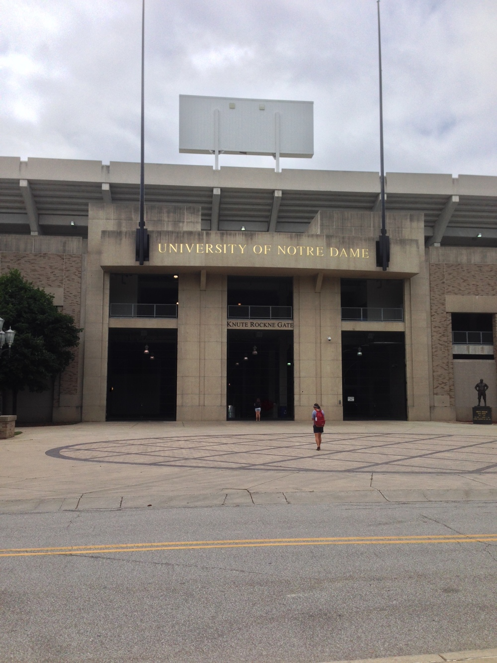 Notre Dame's stadium is on campus