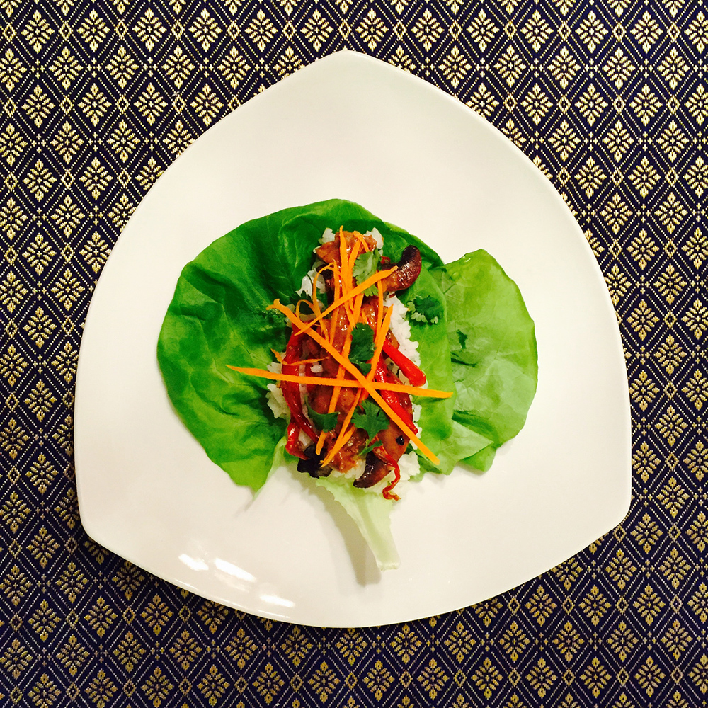 asian lettuce wraps with mamba
