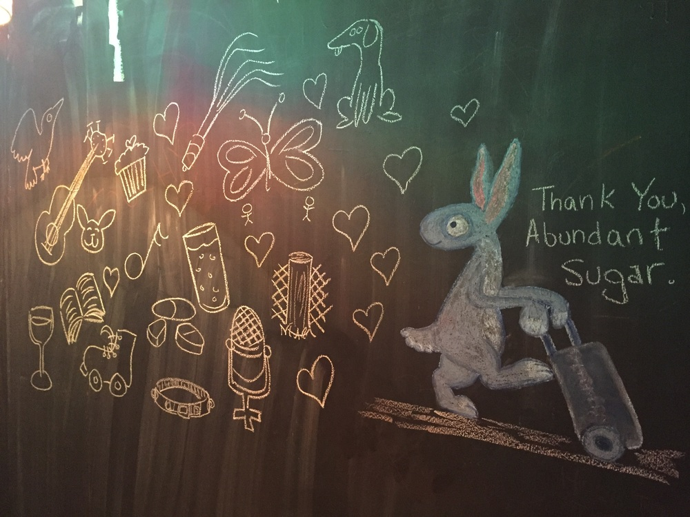 A goodbye message to my Brewery friends when I left Los Angeles, drawn on the wall of the bathroom.