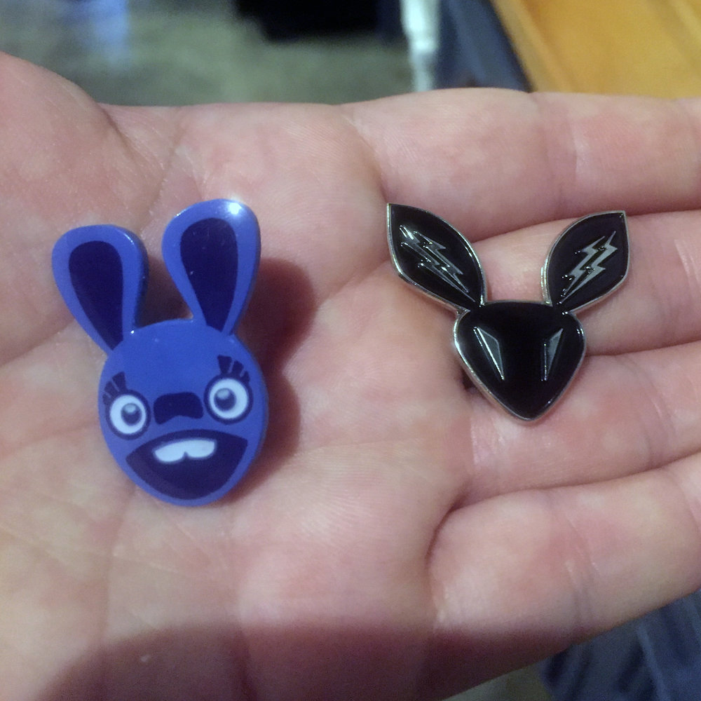 The pin on the right is the old logo for  Lumo Play , my software company.