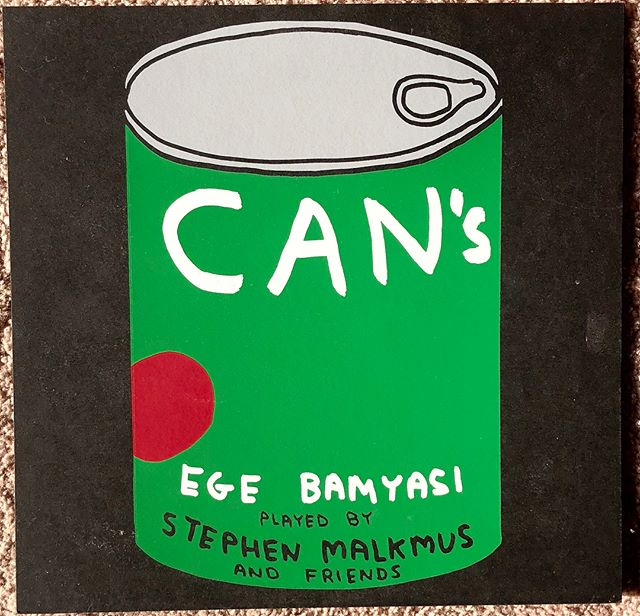 (2 of 7) Stephen Malkmus and Friends- CAN's Ege Bamyas (2013)- Hello! @somekindofjohnster here aka John Totten hosting from Seattle. I'm trying to alter my listening habits for all the non-West Coasters out there so here is a morning selection. One of the nice things about being born on April 17th is that my birthday often falls on the same weekend as Record Store Day. And my buddy @fearof always gets me something after fighting through the crazy crowds. For my 31st birthday in 2013 he got me this limited edition green vinyl and it has become one of my favorite vinyl possessions.  This is a live performance from Week-end Fest in Cologne, Germany 2012 and what better way to please your German crowd by playing the greatest Krautrock record of all time, in my opinion.  Like many suburban 90's kids, I grew up with Pavement and Stephen Malkmus. It wasn't until I worked at Easy Street Records in Seattle from 2004-06 that I started listening to much krautrock. It started with CAN's Ege Bamyasi. Four German jazz musicians playing experimental rock with a Japanese singer singing broken English. Malkmus has the perfect voice for singing Damo Suzuki's talk-sing warble. I don't know much about the backup band. They are German musicians from a band called Von Spar (what is the English translation of that band name). I don't know why he didn't perform it with the Jicks, his usual backup band, but maybe there is just something in the German water that can make musicians play with a serious pocket. The drummer, Jan Phillip Janzen, is the all-star for me on this performance. I think the appropriateness of this cover album proves how far ahead of their time CAN actually was.  Sidenote- I am half Jewish and growing up, my Jewish mom wouldn't let us speak German or own Volkswagons or do German things, so I think listening to krautrock is just one of many small rebellions.  Again, last pic is Brenda *kinda* scared of these sounds.