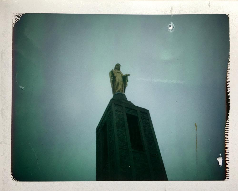 Polaroid Land Camera with Fuji FP-100c Instant Film