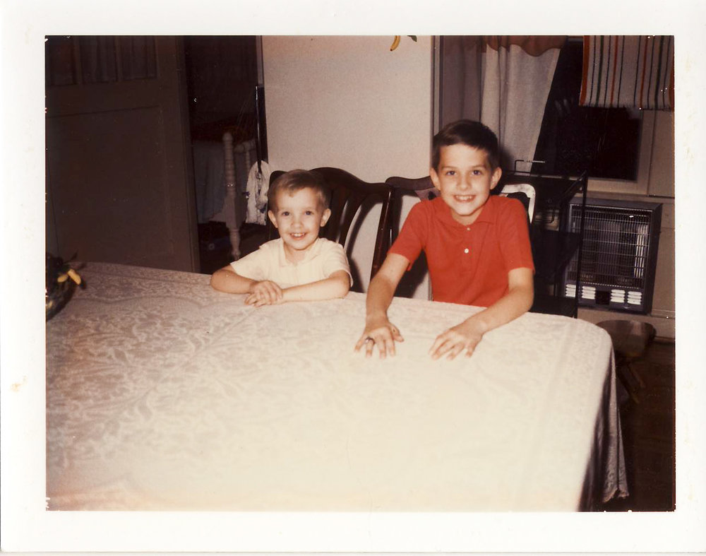My brother and me, taken some time around 1968 while visiting our grandparents.