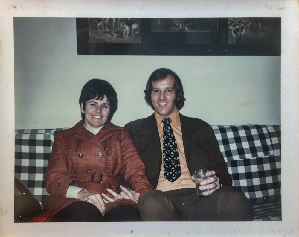 "Polaroid #7. Written on the back is, ""Taken by John Picuri Christmas 1970."""